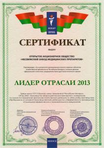 Сертификат-Лидер-отрасли-2013